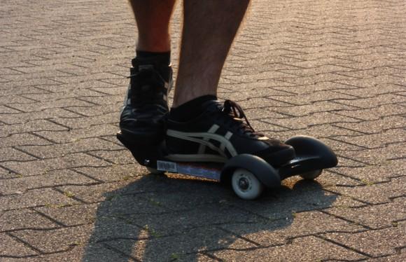 Die fahrt auf einem Sole Skate