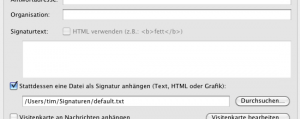 Externe Datei als Signatur im Thunderbird
