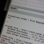 Dynamische E-Mail Signatur