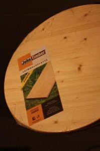 Die Holzplatte - der Untergrund