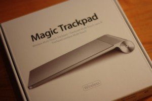 Verpackung des Apple Magic Trackpads