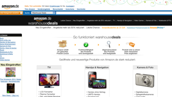 Warehouse Deals bei Amazon