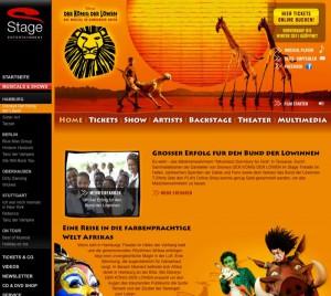 Auf der Webseite von König der Löwen gibt es alle wichtigen Infos