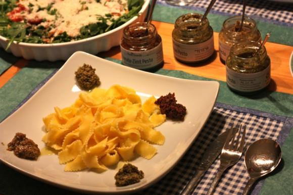 Pesto essen - Beilage Rucola Salat