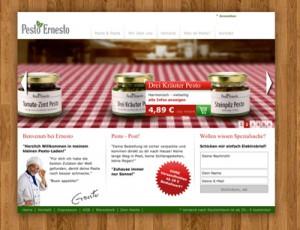 Pesto Ernesto Webseite