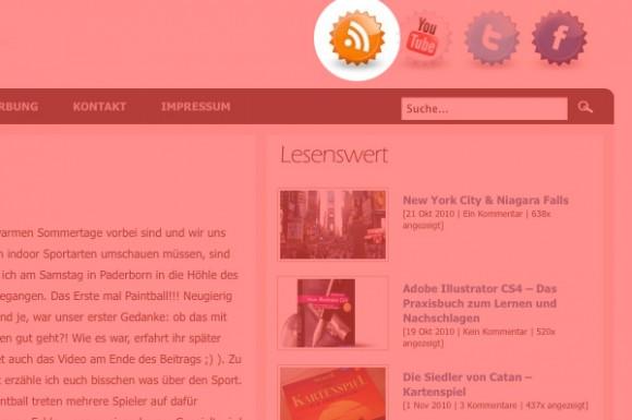 Beispiel für RSS Integration in eine Webseite