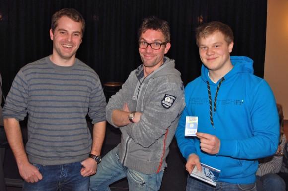 Tim, Ingo und Simon beim Kulturforum