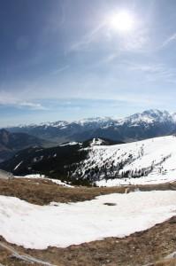 Nur wenig Schnee auf der Schmittenhöhe