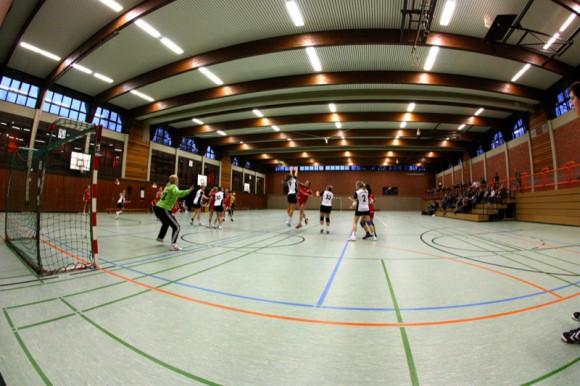 Indoor Sportaufnahmen: Handball