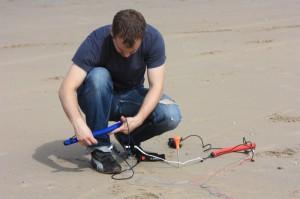 Aufbau am Strand