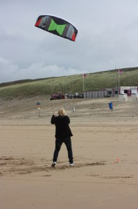 Dekota Kite am Strand