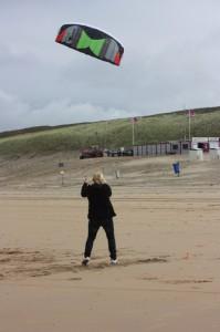 Dekota Kite am Strand