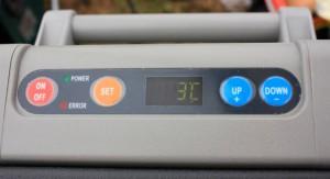 Digitale Anzeige der aktuellen Temperatur