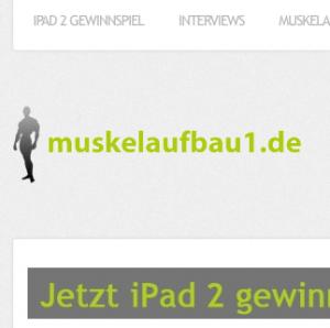 Die Muskelaufbau1.de Webseite