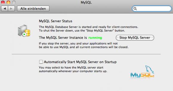 MySQL Systemeinstellungen Konfiguration