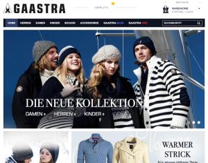 Die übersichtliche Gaastra Webseite