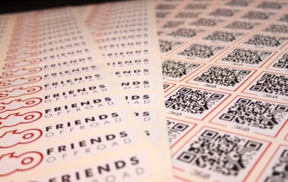 360friends.de Aufkleber - Offroad und QR-Code