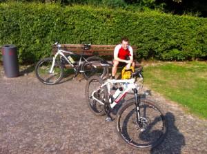 Am Start unterhalb des Hermannsdenkmals