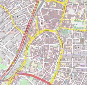 Open Street Map - Bielefelder Innenstadt