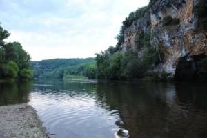 Kanu-Fluss Dordogne