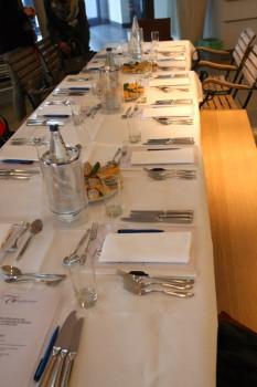 Tisch ist gedeckt...