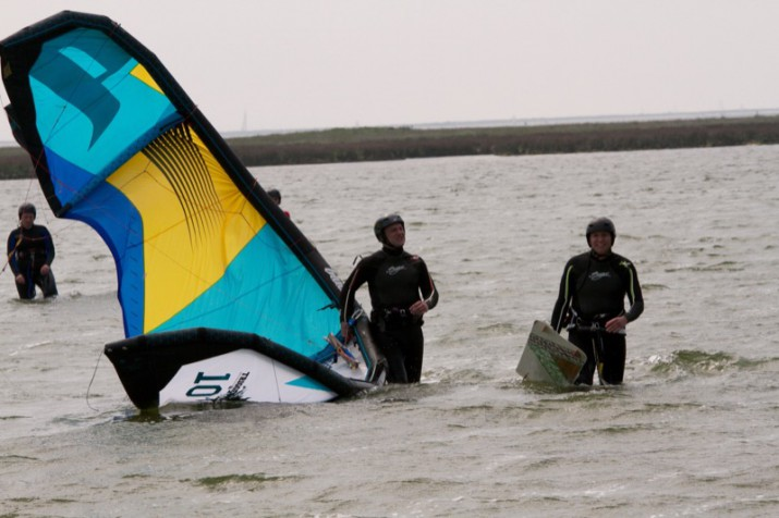 Kiten im Zweierteam