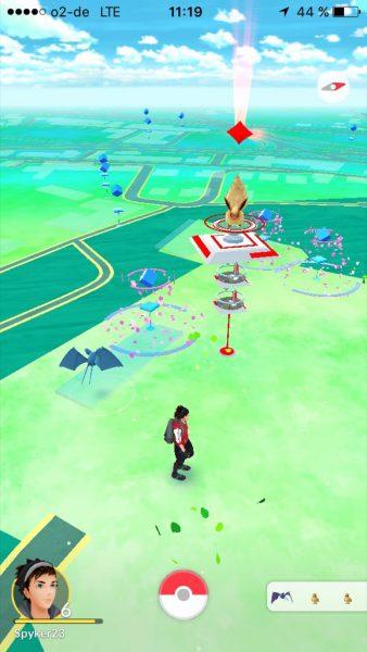 Pokémon Go an der Sparrenburg Bielefeld