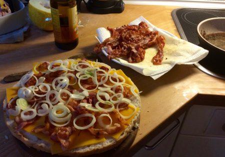 Hamburger in Vorbereitung