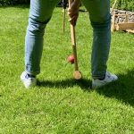 Krocket im eigenen Garten